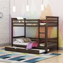 Hypnos Trundle Bunk Bed For Kids in Brown