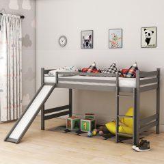 Bunky Grey Slide Bunk Bed