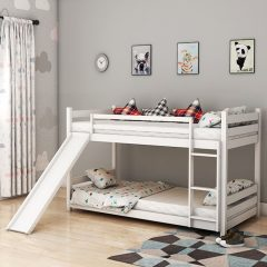 Sling White Slide Bunk Bed