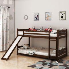 Sling Brown Slide Bunk Bed