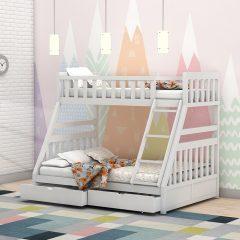 Calypso White Storage Bunk Bed
