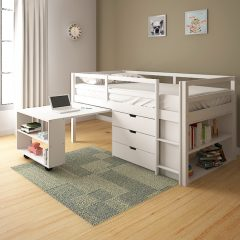 Bunk Bed with Desk and Drawer Storage