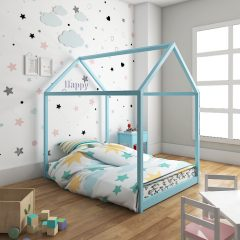 blue tent house bed