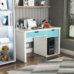 blue study desk