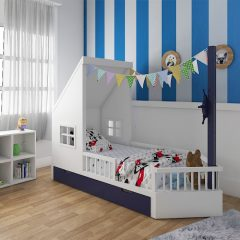 blue kids bed