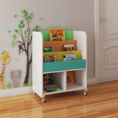 kids book storage trolley