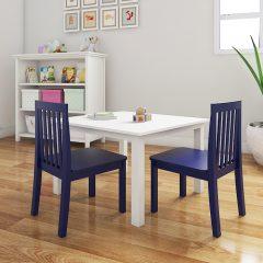 blue nursery chair