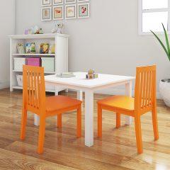 orange nursery chair