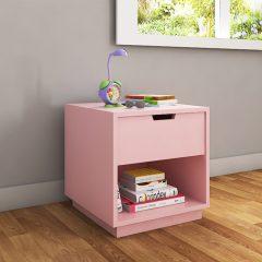 kids pink bedside table