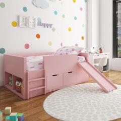 pink slide loft bed