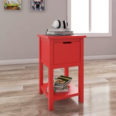 cherry red bedside table