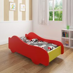 yellow & red car bed
