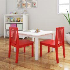 red nursery chair