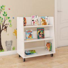buddy white book storage trolley