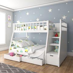 Santander Snow White Bunk Bed