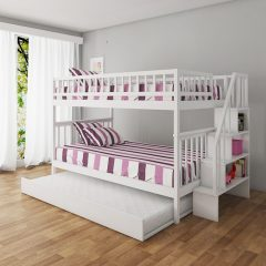 Palencia White Bunk Bed with Trundle