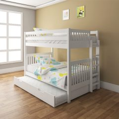 Ourence White Bunk Bed