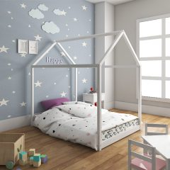 white tent house bed
