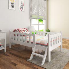 munchie white toddler bed