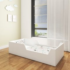 tippy white toddler bed