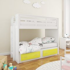 Mama Yellow Twin over Twin Bunk Bed