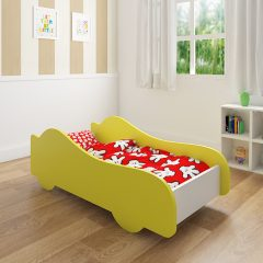 yellow car bed