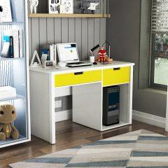 yellow study desk